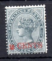 Mauritius 1887 2c on 13c SG117b 'Double Overprint' scarce mint MH WS9449