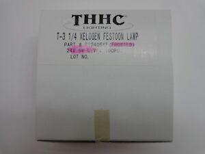 THHC Lighting T-3 1/4 Xelogen Festoon Lamp Frosted FT2405XF 24v 5w Lot of 10