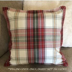 """Red White Blue Pottery Barn Americana Stripe 18/"""" Pillow Cover never used 2 avail"""