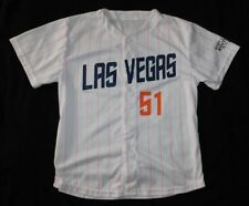 LAS VEGAS 51s PINK STRIPES Cure Cancer NEW YORK METS AAA Minor League JERSEY XL