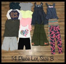 Girls Clothing Lot, 14 Items, Size 8, Emily Rose, Lularoe, Old Navy, And More