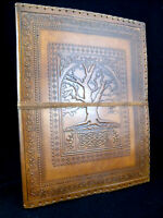 Tree of Life - A4 / US Letter Size Portfolio Binder - Hand-Tooled Leather