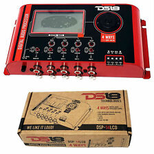 DS18 DSP-14LCD Digital 4 Way Audio Cross Over Processor Parametric Equalizer EQ