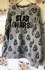 Disney Store Star Wars Grey Black Orange BB-8 Sweatshirt Age 13 - New No Tags