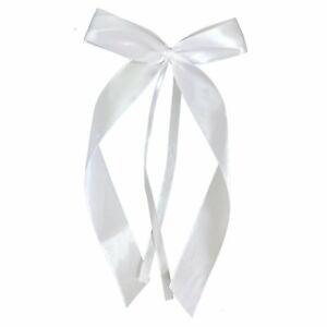 25 x hochwertige Weis Antenneschleifen aus Satin, Auto Schleifen, Hochzeit Deko