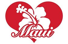 Maui bumper sticker decal hawaii hibiscus any city auto