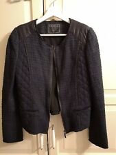 GUESS Womens Jacket Blazer Tweed Black/Blue colour Size S UK10