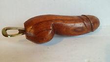 Flaschenöffner 20cm Holz Phallus Penis abstr Erotik Kunst Skulptur Dildo Figur