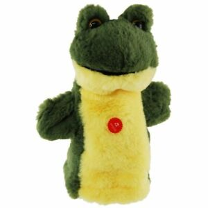 """Frog Hand Puppet with Sound soft plush toy 9""""/23cm Croaking Frog Toy"""