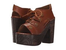 People Farrah Clog Leather Platform Heel Whisky Ob482739 EU 39 US 8