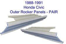 1988-91 HONDA CIVIC OUTER ROCKER PANELS 2DOOR HATCHBACK NEW PAIR!!!