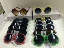 Round sunglasses plastic frame assorted color wholesale 12 pair #XR019