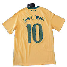 2010/11 Brazil Home Jersey #10 Ronaldinho Medium Nike World Cup Brasil NEW