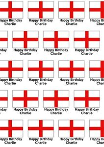 A2 England Flag Print Wrapping Paper, Personalised, Birthday, Any Occasion