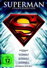 SUPERMAN Part 1 2 3 4 5 THE FEATURE FILM COLLECTION Christopher Reeve 5 DVD Box