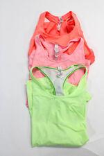 Lululemon Womens Scoop Neck Tank Top Pink Peach Yellow Size 8 10 Lot 3