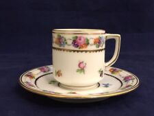 Vintage DRESDEN Germany Handpainted Demitasse Cup and Saucer Set