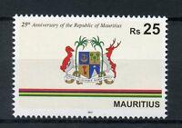 Mauritius 2017 MNH Republic 25th Anniv Coat of Arms Emblems 1v Set Stamps