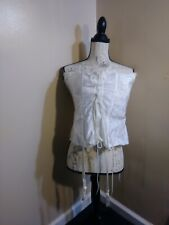 Empire Intimates Bustier Corset Lace Up Corset Edwardian Style size 38 floral
