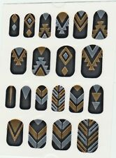 GOLD  SILVER METALLIC COLORED NAIL TATTOOS PEEL  STICK EGYPTIAN INDIAN COSTUME