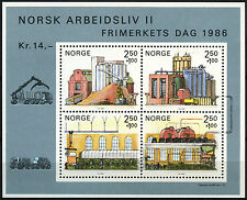 Norway 1986 SG#MS989 Stamp Day Working Life MNH M/S #D40674