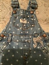 Osh Kosh Girls Overalls Size 12 Months Euc
