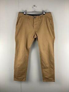Burton Menswear London Men's Casual Dress Jeans Tapered Slim Size 34 Brown