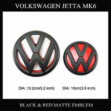Black/Red Matte Grille emblem&Tailgate emblem for Volkswagen Jetta MK6 VW(11-14)