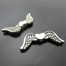 20pc Heart Angel wings Spacer Beads Retro Tibetan Silver Jewellery Making S195T