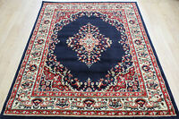 KESHAN TRADITIONAL  LOOK  NAVY RED  Floral Rug Carpet Mats Small M XL SIZE