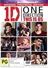 """1D ONE DIRECTION THIS IS US """"DVD + ULTRAVIOLET"""" REGION 4 PAL (BRAND NEW/SEALED)"""