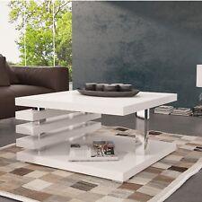 Moderne Couchtisch Kaffeetisch Kaffeetisch Sofatisch Hochglanz Weiß Wohnzimmer