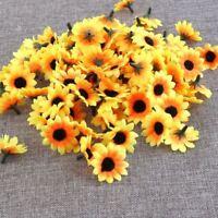 100Head Fake Sunflower Artificial Silk Flower Bouquet Home Wedding Table Decor