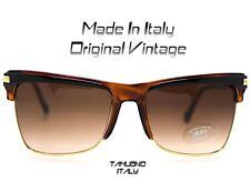 OCCHIALE SOLE DONNA sunglasses VINTAGE QUADRATO clubmaster MADE IN ITALY