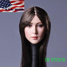 1/6 Female Head Sculpt Long Straight Hair A for Phicen Hot Toys Figure ❶USA❶
