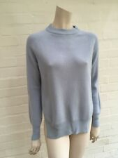 BEST QUALITY MALO Blue Pure Cashmere Knit Jumper Sweater Size I 40 UK 8 US 4 S