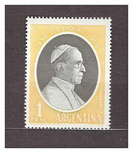 DEALER STOCK ARGENTINA 1959 MNH Nuovi Pope Pio XII 1v  X10 SETS  29620A