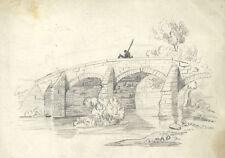 Originalzeichnungen (bis 1900) mit Landschafts-Motiv und Bleistift-Technik