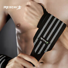 Fitness Gym Weightlifting Bracers Powerlifting Wristband Support Elastic Wraps
