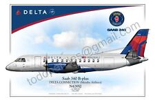 Saab 340 - Delta - Poster Profile
