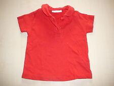 Zara tolles T-Shirt Gr. 68 / 74 rot mit hübschem Kragen !!