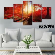 5Pcs Home Decor Modern Abstract Canvas Print Painting Picture Wall Hanging Art