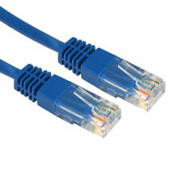 4m Blau Netzwerk Ethernet RJ45 Cat-5E UTP Patchkabel Lan Copper Kabelleine