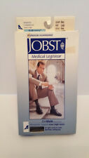 Jobst for Men Moderate Support Over-the-Calf Dress Socks,Large,Navy Blue