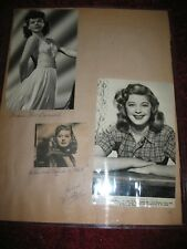 Grace MacDonald and Helen Walker Original Photos ~ 14 x 11 plastic holder
