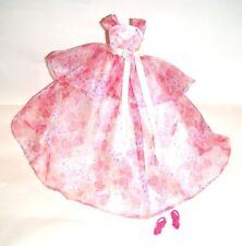 Barbie Fashion Pink Floral Gown For Model Muse Barbie Doll fn552