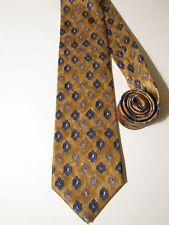 XMI NORDSTROM NECK TIE. Brown & Blue Diamond Pattern. 100% Silk. NWOT NEW.