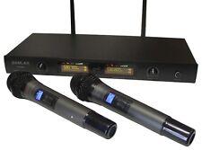New 2x Professional Dynamic UHF DJ/PA Wireless Microphone System Effective 50M