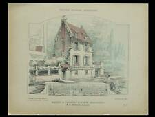 GOURNAY SUR MARNE, MAISON - 1906 - PLANCHES ARCHITECTURE - FREDERIC BERTRAND