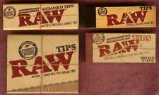 RAW Rolling Paper Tips Sampler Variety Lot Pack - Classic,Gummed,Pre-Rolled,Wide